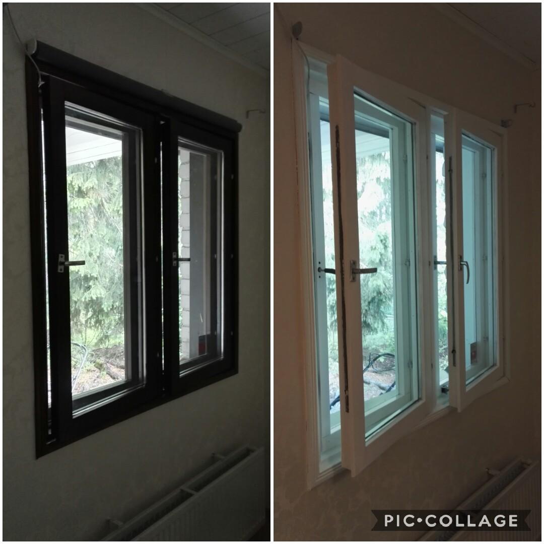 Ikkunoiden maalaus